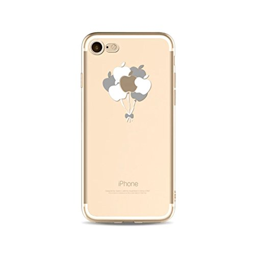 Cover iPhone 6/iPhone 6s, KSHOP silicone cover con Disegno di tema di natale, sottile morbide bumper custodia per iPhone 6/iPhone 6s - ophone renna di cartone animato fer13