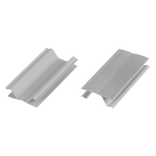 HOLZBRINK Eckverbindung Sockelblende Sockelleiste für Einbauküche 100mm Höhe ALUMINIUM Satin - HBK10