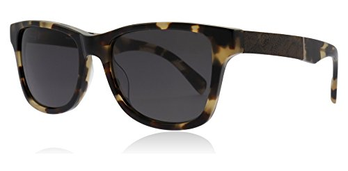 Shwood WACHELG Havana / Elm Burl Havanna / Elm Burl Canby Square Sunglasses Lens Category 3 Lens Mirrored Size 54mm