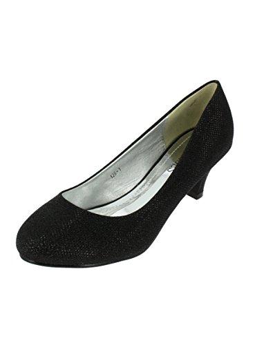 Chaussures de cérémonie soirée escarpin femme talon 6cm - PRODUIT STOCKÉ ET EXPÉDIÉ RAPIDEMENT DEPUIS LA FRANCE Noir