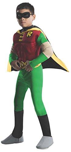 Rubies 3 882309 l - Kostüm Dlx MuscleChest Robin Größe (3 Muskel Kind Deluxe Kostüme)