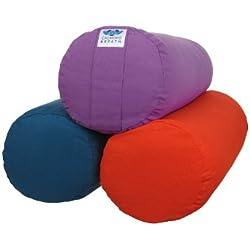 CalmingBreath Yoga volster redondo, de algodón, relleno de alforfón, colores variados