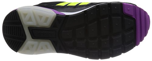 Adidas Run9Tis W Scarpe da Ginnastica, Viola / Rosa / Bianco / Grigio, 36 Nero / Bianco / Viola / Lime