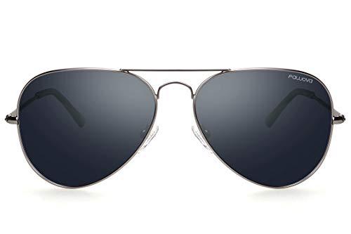 fawova ▪ 2019 Polarisiert Sonnenbrille Herren Aviator, Politenbrille Herren Polarisiert Grau, 58mm, UV400, Cat.3,CE (grau, Silber-)