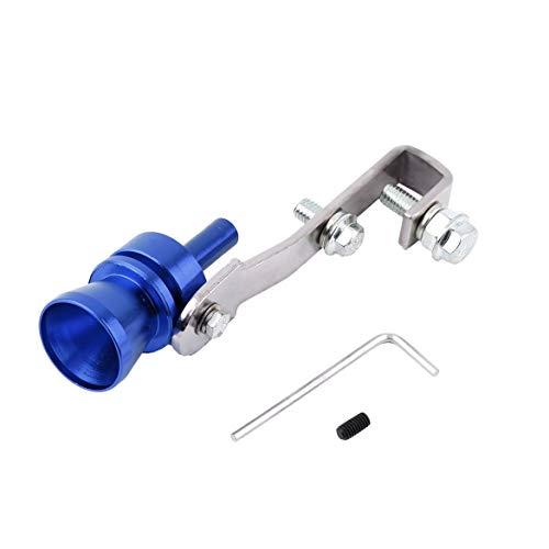 5 Farben Aluminium Auto Turbo Gefälschte Sound Auspuff Whistle Blow Off Valve Simulator S Universal Auto Zubehör - Blau S