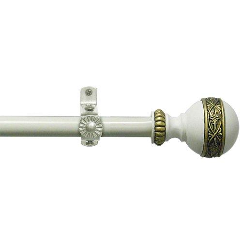 Achim Home Furnishings Camino Embrace Fenster Rod und Kreuzblume, 48bis 86-inch - 48 Rod