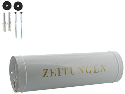 BURG-WÄCHTER Zeitungsrolle mit Kunststoffabdeckung, Briefkastenergänzung, Verzinkter Stahl, 800 W, Weiß - 5