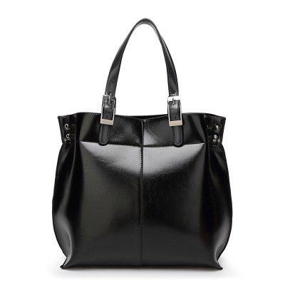 Mefly Nuova borsa semplice portatile tracolla Borsa marrone chiaro black