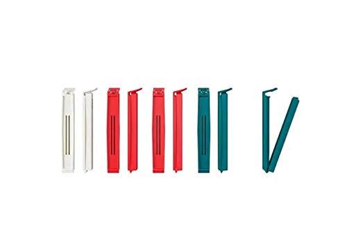 BEVARA étanchéité clip, Lot de 10, couleurs assorties,, Congélateur. Passe au lave-vaisselle. En polypropylène.