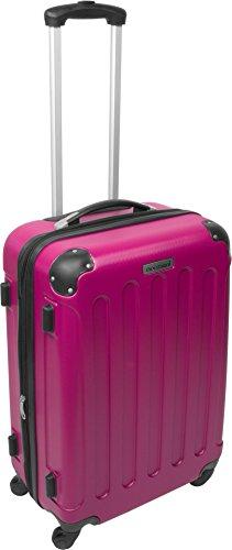 normani® Hartschalen-Kofferset aus ABS - Trolley, Koffer, Reisekoffer Pink