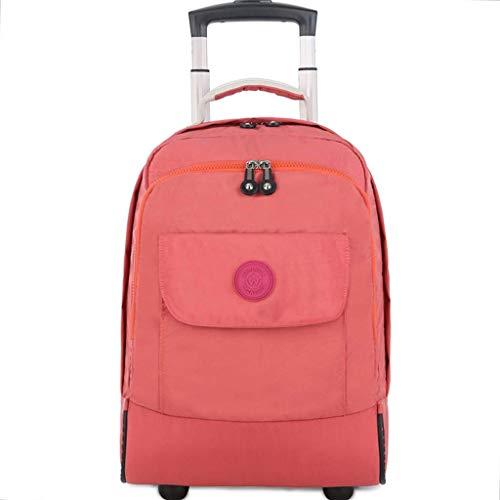 CXF@ Rädern Laptop Rucksack College Rucksack Rolling School Bag Business Rucksack Reise 17 Zoll Rucksack Rädern Rollen (Farbe : Orange) -