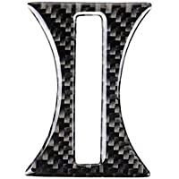 Zerama Carbon Fiber Lined Cup Holder Panel Bezel Cover Trim Replacement For Mercedes GLA/CLA/A Class