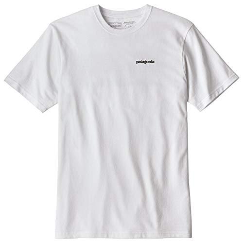 Patagonia Shirt White (Patagonia Herren P-6 Logo Responsibili-Tee, White, XL)
