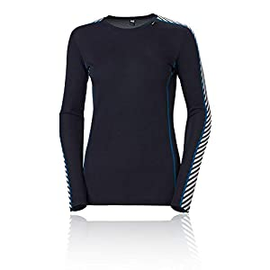 Helly Hansen W HH LIFA Crew Ls Baselayer Femme Navy FR: S (Taille Fabricant: S)