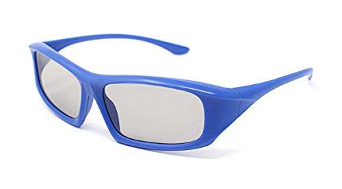 Ultra 5 Paar Blau Erwachsene Passive 3D-Brillen für Männer Frauen Polorized Eyewear Wraparound Style für Alle Passivfernseher Kino und Projektoren wie RealdD Toshiba LG Sony Panasonic und Mehr