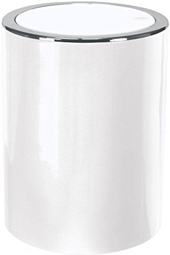 Kleine wolke 5829114858 cap - pattumiera per bagno, da 5 litri, colore: bianco neve