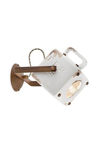 ferroluce rétro c1651-vib Applique Industrial Lanterne E27 53 W, Vintage Blanc