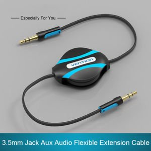 MG Universal Vention 3.5mm Jack Male to Male Flexible Retractable Stereo Aux Audio Cable Gift Jack Retractable Audio