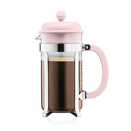 Bodum 1918-340B-Y19 CAFFETTIERA Kaffeebereiter mit Kunststoffdeckel, 8 Tassen, 1.0 l, Edelstahl, Glas