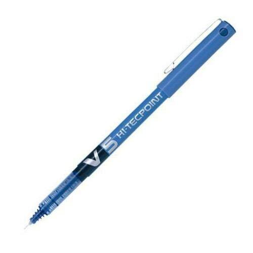 Pilot BX V5 Hi-Tecpoint - Penna a sfera con punta da 0,5 mm, tratto 0,3 mm, colore: Blu