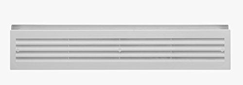 Cuarto de baño puerta Ventilador plástico graubeige RAL 1019rejilla de ventilación para puerta