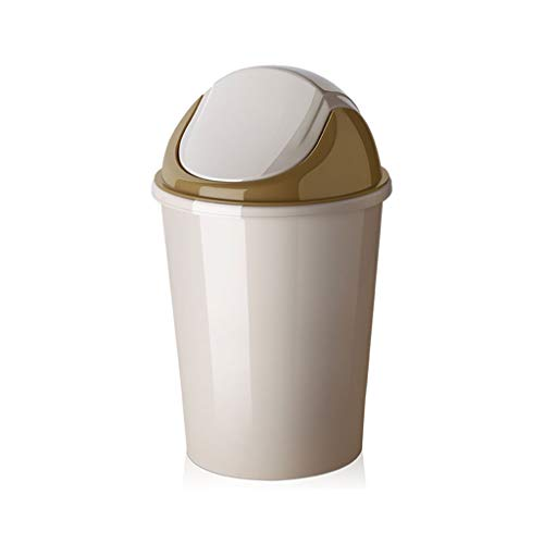 Bowayeen Haushalts-europäische Badezimmerküche Wohnzimmer Small Trash Can with Lid Large Creative Storage Bucket 6.2l/9.2l 9.2L beige