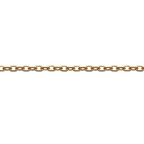 CHAINE Plaqué OR 18K maille Forçat diamanté FINE 40 cm neuf