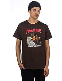 Thrasher Neckface Invert T-Shirt - Brown Mens Skate Brand T-Shirt  58414ceae