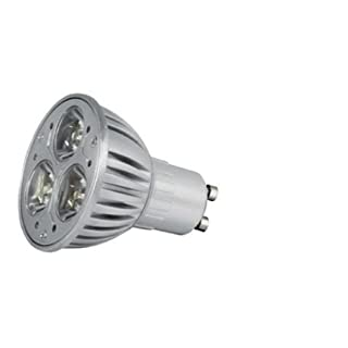 Alcasa Power LED, GU10, 230V, 3,5W, 110lm, Ø 50 x 65mm, 4000K, Abstrahlwinkel: 15°, dimmbar, CRI-Wert: 90, warmweiß