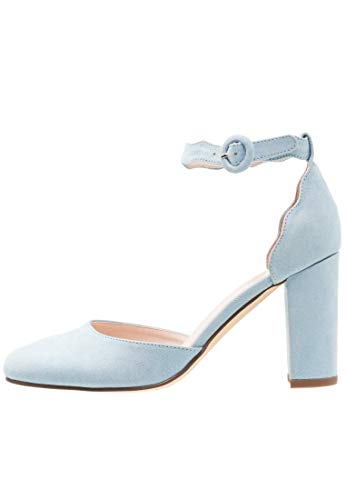Anna Field Riemchenpumps - Elegante Damen Pumps mit Fesselriemchen - Mary Jane Schuhe blau, Größe 40 Damen Mary Jane Pumps