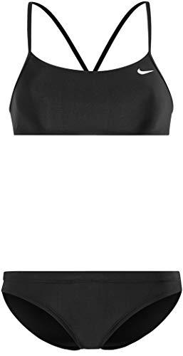 Nike Swim Solid Racerback Top & Sport Bikini Bottom Black/Black Größe S 2018 Bademode
