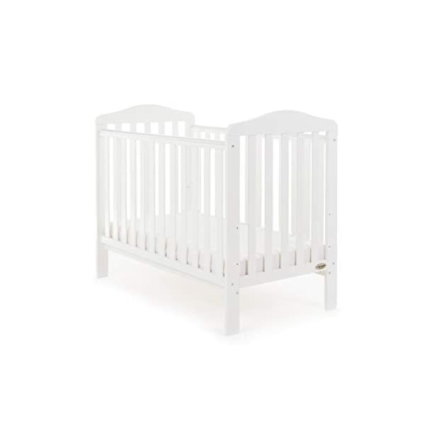 Obaby Ludlow Cot, White Obaby Adjustable 3 position mattress height Stylish open slatted ends and sides Protective teething rails along both side rails 1