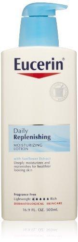 Eucerin Daily Replenishing Moisturizing Lotion, 16.9 Ounce (Pack of 3) by Eucerin [Beauty] (English Manual)