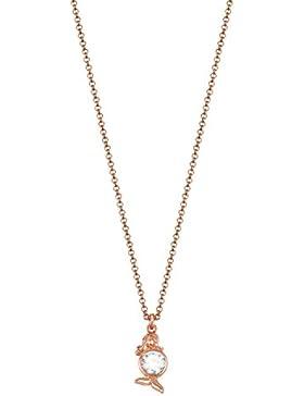 ESPRIT Zodiac Damen-Kette mit Anhänger ES-VIRGO Sternzeichen teilvergoldet Zirkonia transparent - ESNL03389C420