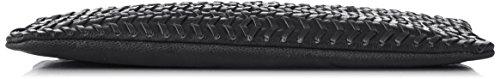 SELECTED FEMME Damen Sfkeira Leather Clutch, Einheitsgröße Schwarz (Black)