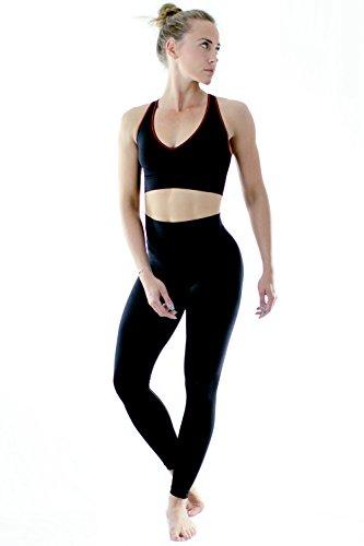 Las polainas de las mujeres de gimnasia Made in Italy diseñador de ropa de la aptitud Medias Yoga (Medium)