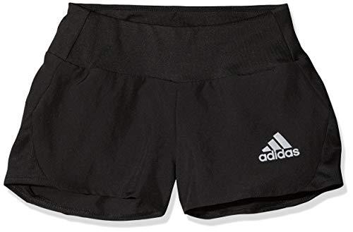 adidas Mädchen YG TR Run Shorts, Black/Reflective Silver, 7-8 Years