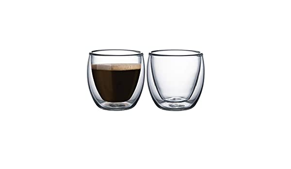 Tramontina Service double walled glass tea and coffee cups