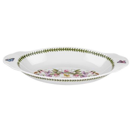 China Oval Gratin Dish (Portmeirion Botanischer Garten Oval Backform 40 cm von 18,5 cm)