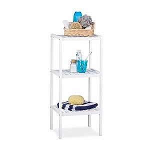 Badezimmer Regal Holz Weiß | Deine-Wohnideen.de