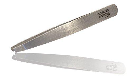 Pinzette Augenbrauen - Qualität aus SOLINGEN - Pinzette zum präzisen zupfen von feinen Härchen - inkl. kostenloser Anleitung zur perfekten Braue