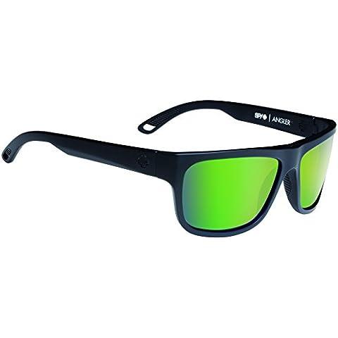 Spy, Occhiali da sole, Nero (Matte Black-Happy Bronze Polar W/ Green Spectra), Taglia unica - Spy Bronzo Da Sole