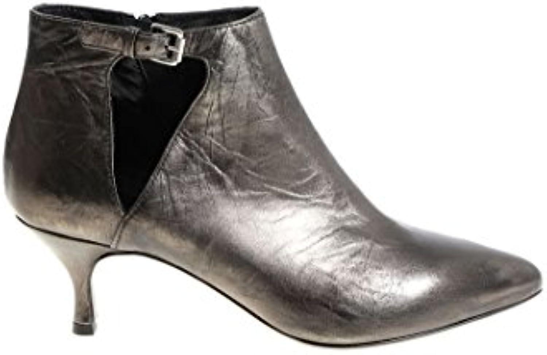 STRATEGIA Damen PE4927FUCILE Grau Leder Stiefeletten -