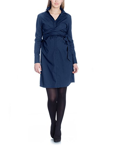 Bellybutton Leora - Kleid 1/1 Arm - Robe - maternité - Femme Bleu - Blau (parisian night 3162)