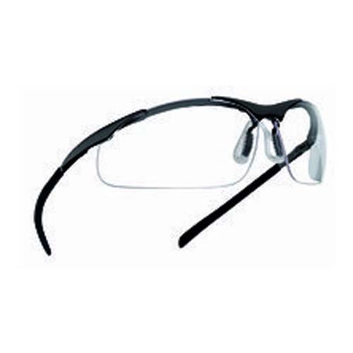 Bollé contmpsi Contour Brille Metall Rahmen, Flex Bügel mit TIPGRIP Typ Komfort Nase PC klar, kratzfest und Anti-Fog Objektiv, gratis Mikrofaser-Tasche Nasen-komfort