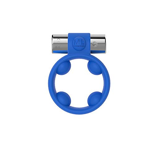 Super Love Wasserdichtes vibrierendes Spielzeug-Massager-Ring-drahtloses Mini drahtloses 10 Starkes Starkes vibrierendes Mode-nachladbares Silikon-Vibrator-Blau - Blauer Massager