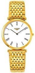 Idea Regalo - Longines L47092118 L4.709.2.11.8 - Orologio da polso da uomo, cinturino in oro giallo