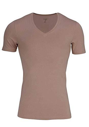 OLYMP Herren T-Shirt Level 5 Body Fit Caramel (855) M