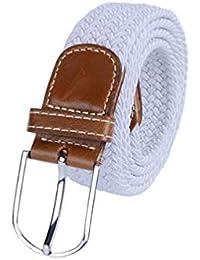 Unisex Moda 105   3.5 Cm Tela Elástica Regalos De La Lona Trenzada Cinturón  Ocio Estiramiento Ancho Cinturón De Punto Cinturón Cintura Para… a6b38135c1ad