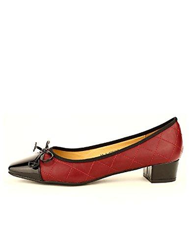 Cendriyon Ballerine à Talon Bordeaux Misty Chaussures Femme Bordeaux